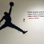 Jordan piece with quote