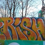Trenton St Pats Day Parade..Painted While Moving