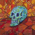 Dynamic Abstract Still Life (Skull)Mixed Media On Canvas
