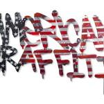 American Graffiti, Mixed Medium on Custom Cut MDF