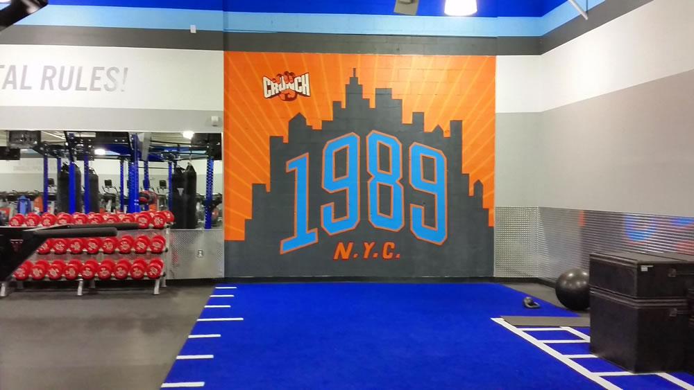 Crunch Fitness mural in Toms River, NJ