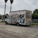 This is what the Box Truck looked like before we painted it!