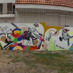 Panorama of the full wall