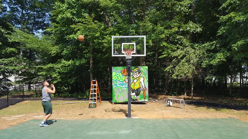 Boston Celtics Graffiti Basketball Court