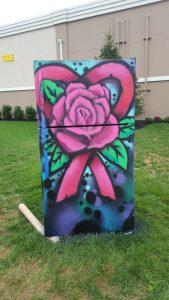 Painted Fridge Front