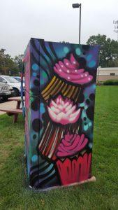 Painted Fridge Side