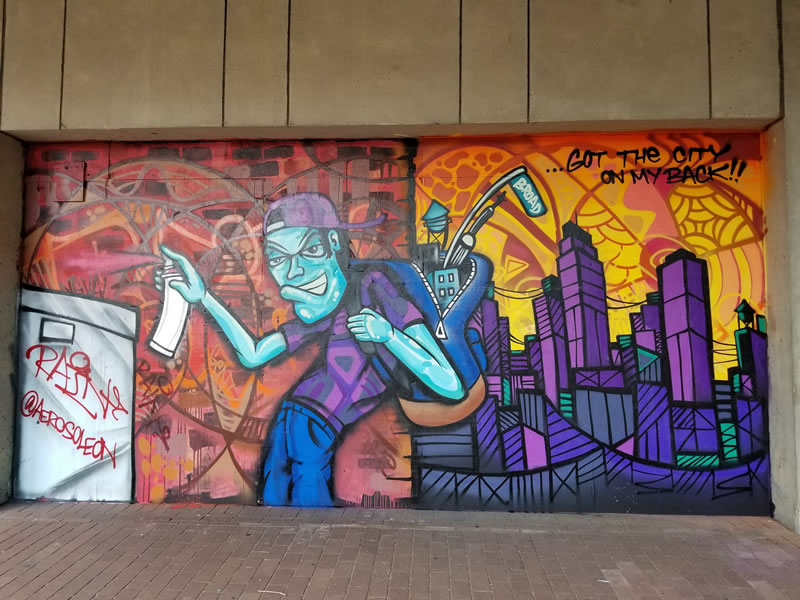 City on my Back / Murals on Front