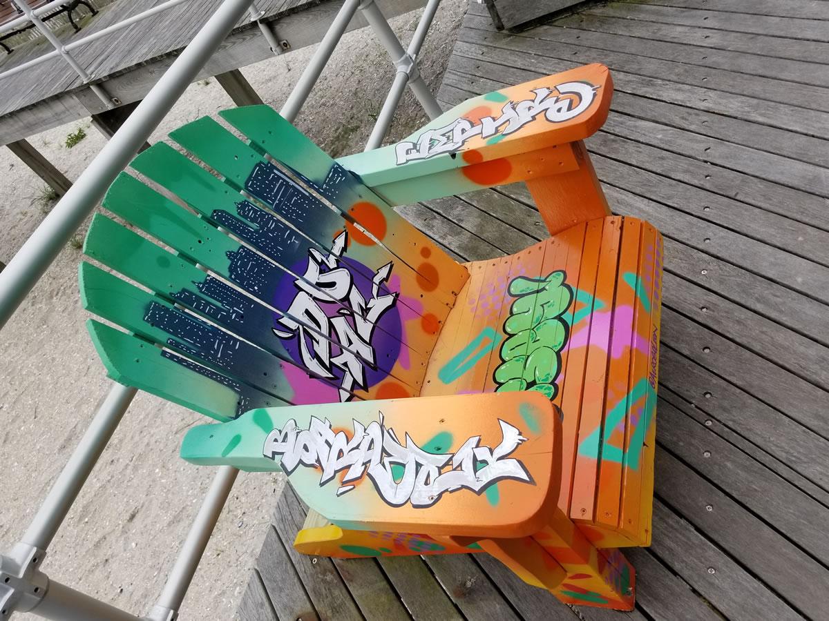 Atlantic City Boardwalk Adirondack Chair