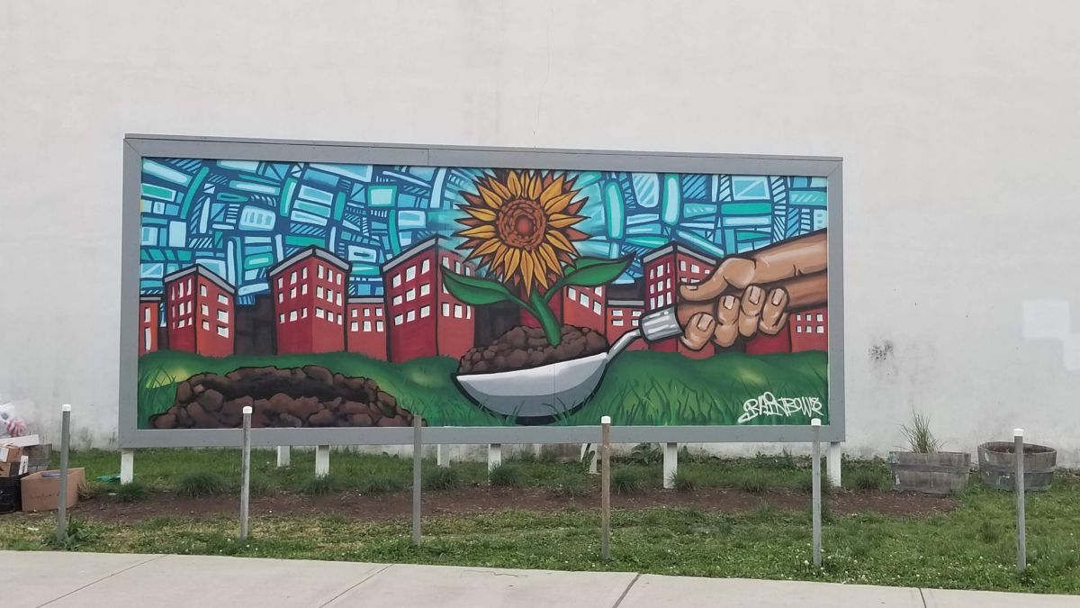 Perry St Billboard Mural