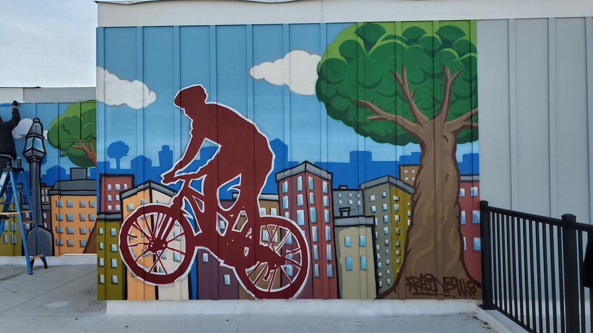 Rooftop Mural Robbinsville, NJ